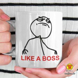 šalica sa natpisom like a boss