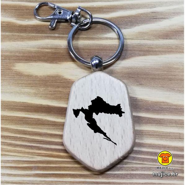 privjesak za ključeve gravirano hrvatska drvo