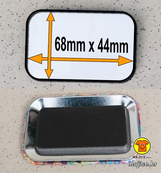 magnet za hladnjak pravokutni 68x44mm izrada po narudžbi